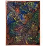 Nell Walden. Notturno. Tempera auf Malkarton. 1952. 31,5 : 24,5 cm. Monogrammiert. Typische