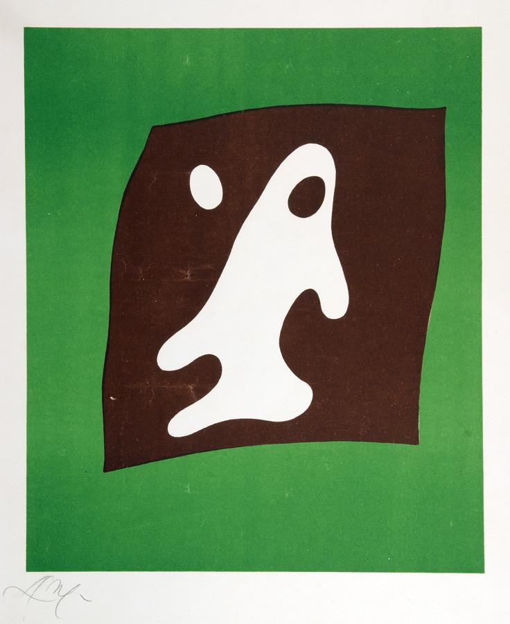 Jean Arp. Ohne Titel. Zwei Farbserigraphien. 1959/1953? 44,0 : 32,5 cm (63,5 : 48,7 cm) und 31,0 : - Image 2 of 2