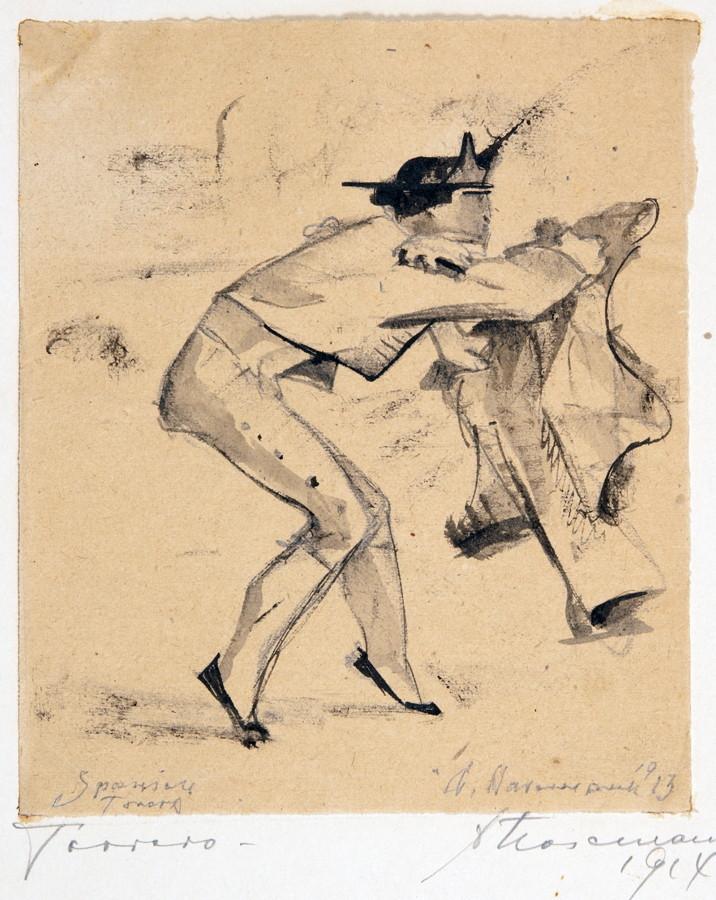 Arminius Hasemann – Die Zeichnungen - Torero. – Torero. – Spanischer Torero. – Drei Zeichnungen. - Image 2 of 3