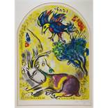 Marc Chagall. Der Stamm Naphtali. Farblithographie nach einem Gemälde für ein Glasfenster. 1964.