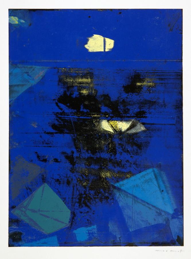 Max Ernst. Nocturne. Farbserigraphie. 1973. 33,4 : 24,5 cm (51,0 : 41,0 cm). Signiert.