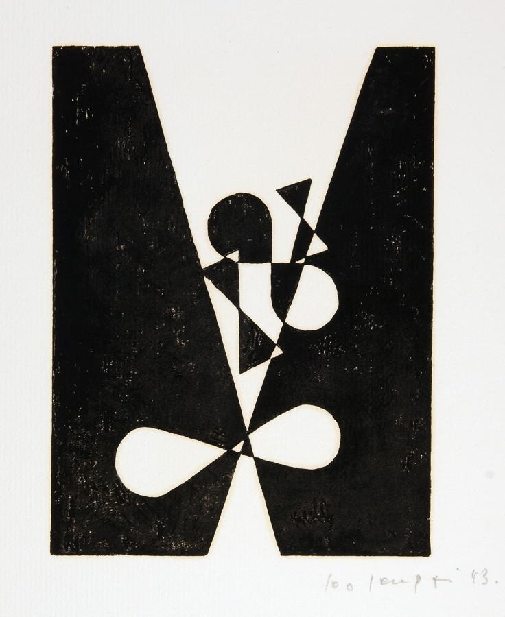Leo Leuppi. 10 compositionen. Zehn Linolschnitte. 1943. 20,0 : 15,0 cm (33,5 : 27,0 cm). Signiert - Image 3 of 4