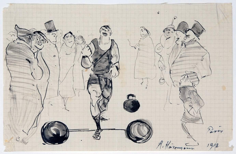 Arminius Hasemann – Die Zeichnungen - Paris. 13 Tuschfederzeichnungen, teils laviert. 1912/1913. - Image 5 of 5