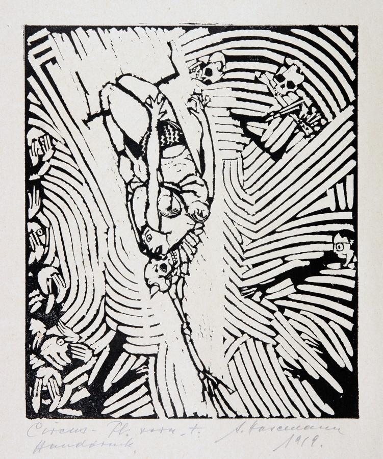 Arminius Hasemann. – Die graphischen Zyklen - Der Zirkus. 13 Holzschnitte. 1920. Elf signiert, - Image 3 of 5