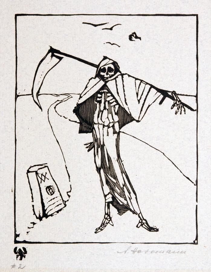 Arminius Hasemann. – Die graphischen Zyklen - Vierundzwanzig Original-Holzschnitte zu dem Werke » - Image 2 of 3