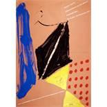 Markus Lüpertz. Dithyrambische und Stil-Malerei. Farbserigraphie. Ausstellungsplakat. 1977. 128,