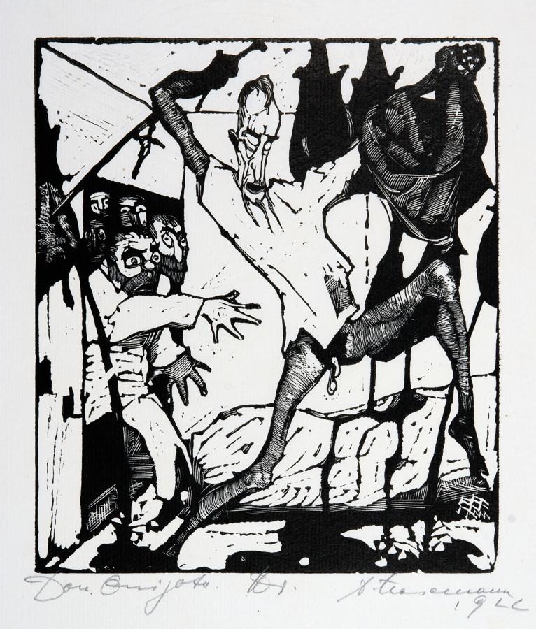 Arminius Hasemann. – Die graphischen Zyklen - Don Quijote von der Mancha, Ritter der traurigen - Image 3 of 5