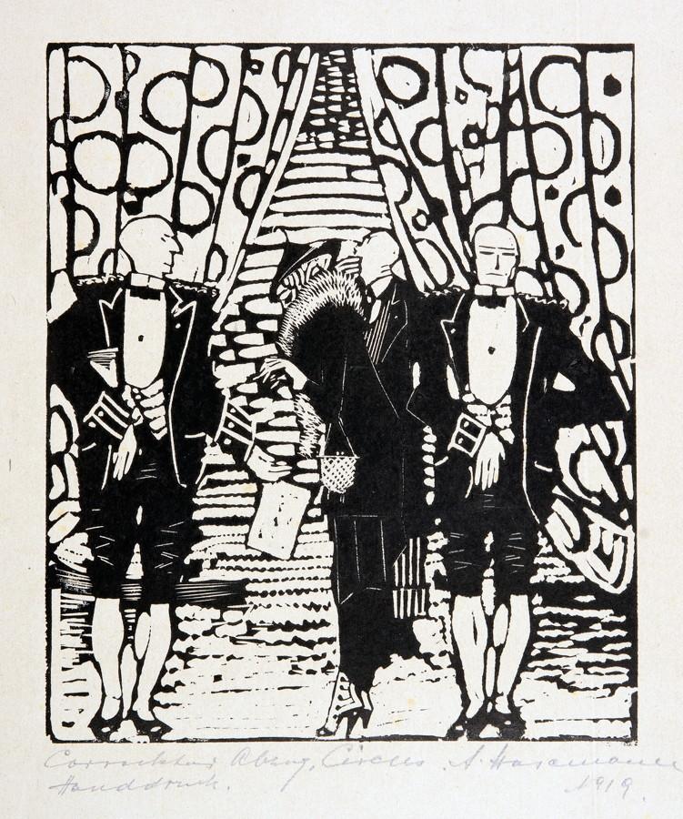 Arminius Hasemann. – Die graphischen Zyklen - Der Zirkus. 13 Holzschnitte. 1920. Elf signiert,