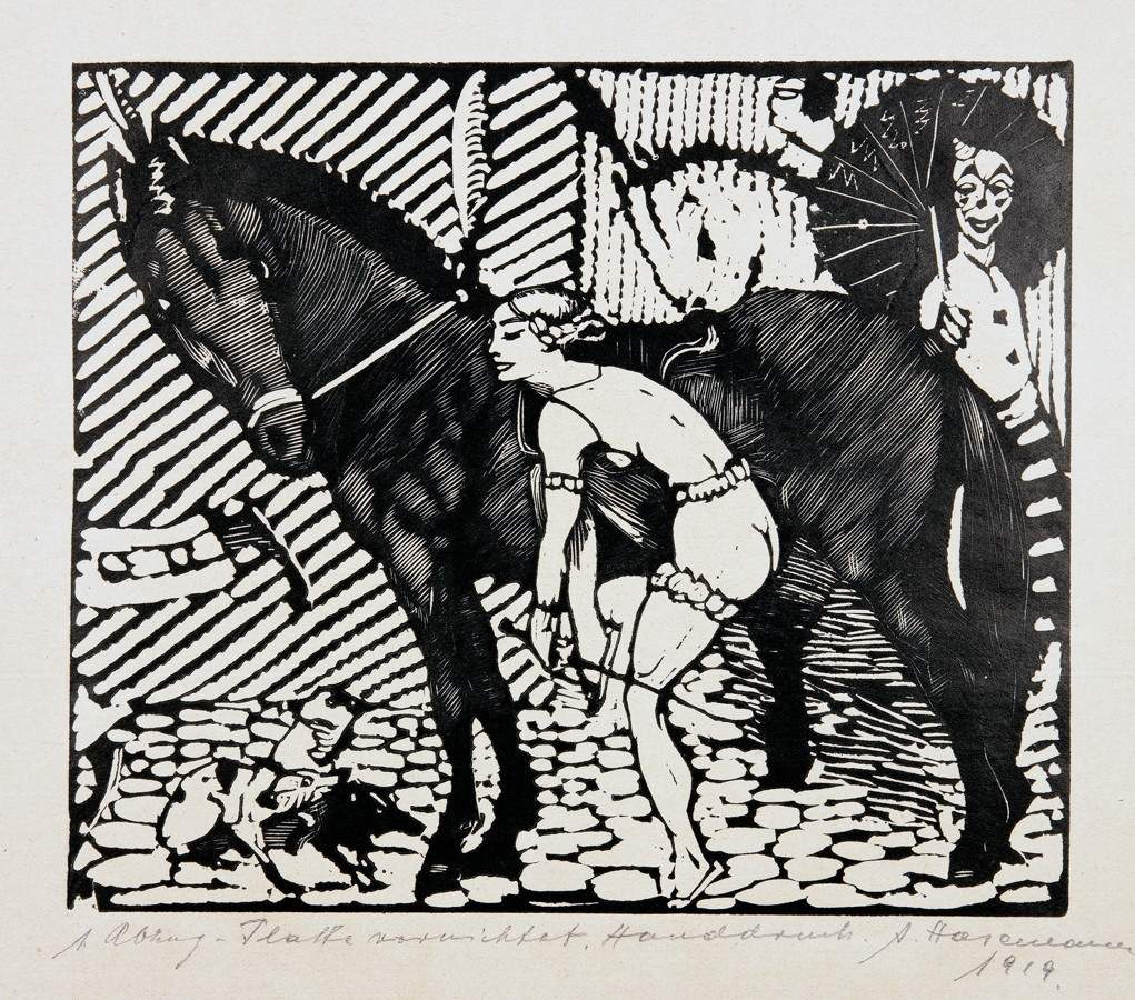 Arminius Hasemann. – Die graphischen Zyklen - Der Zirkus. 13 Holzschnitte. 1920. Elf signiert, - Image 4 of 5