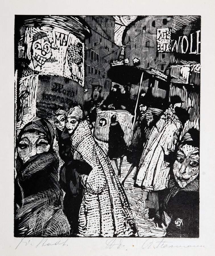 Arminius Hasemann. – Die Druckgraphik - Eine Radierung und neun Holzschnitte. 1917–1932. Alle - Image 5 of 5