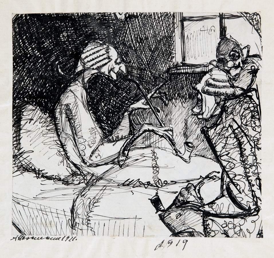 Arminius Hasemann – Die Zeichnungen - Fünf Tuschfederzeichnungen, wohl für Buchillustrationen. Um - Image 2 of 2