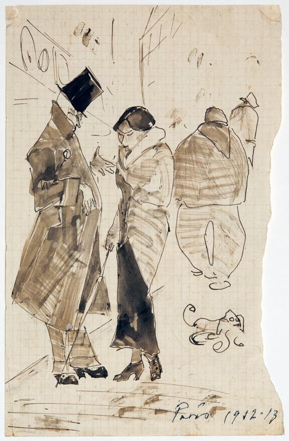 Arminius Hasemann – Die Zeichnungen - Paris. 13 Tuschfederzeichnungen, teils laviert. 1912/1913. - Image 4 of 5