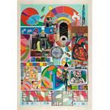 Eduardo Paolozzi. B.A.S.H. (aquamarine). Farbserigraphie und Collage. 1971. 74,5 : 49,8 cm (84,7 :