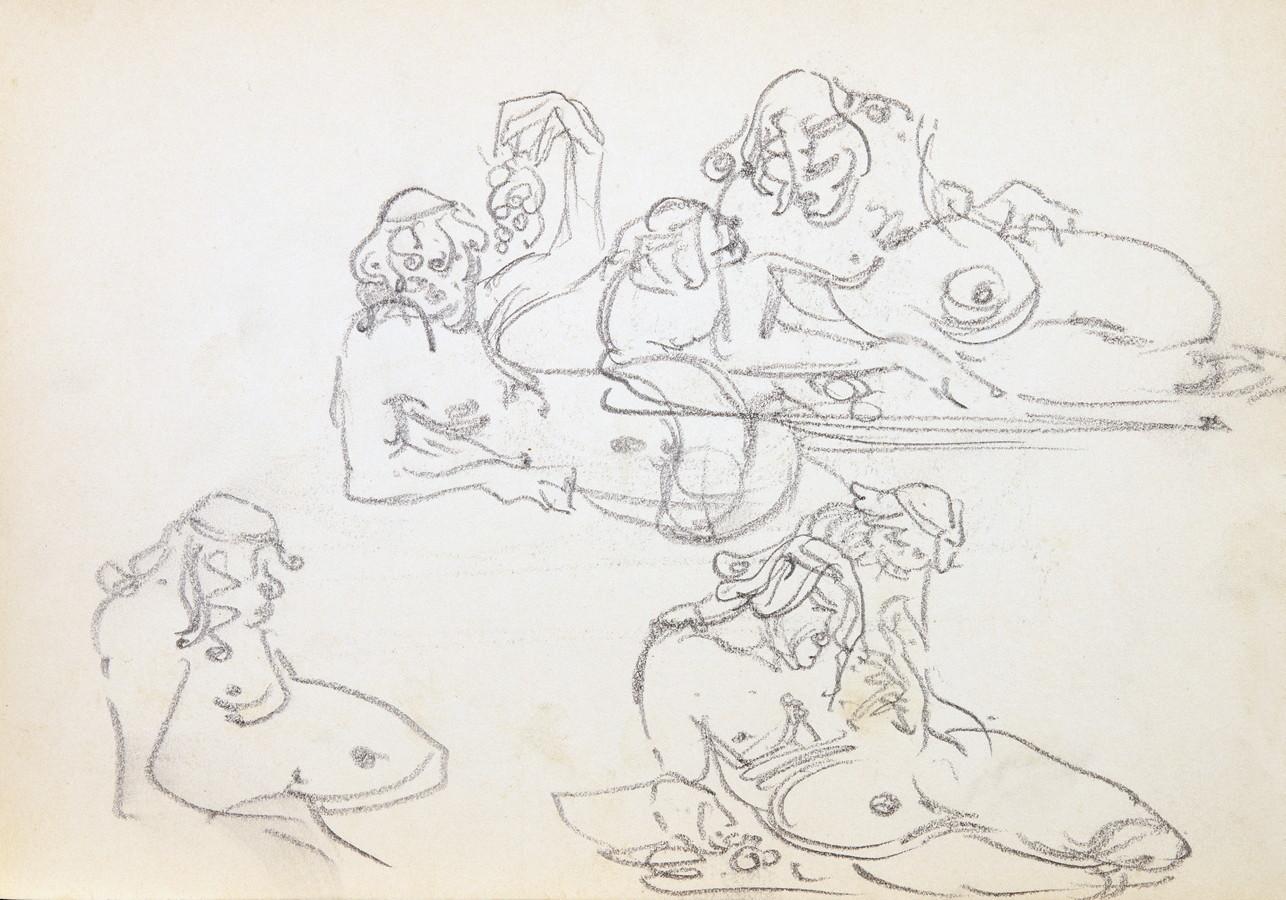 Arminius Hasemann. – Die Skizzenbücher - Sechs Skizzenbücher mit etwa 400 Skizzen, meist in - Image 7 of 7
