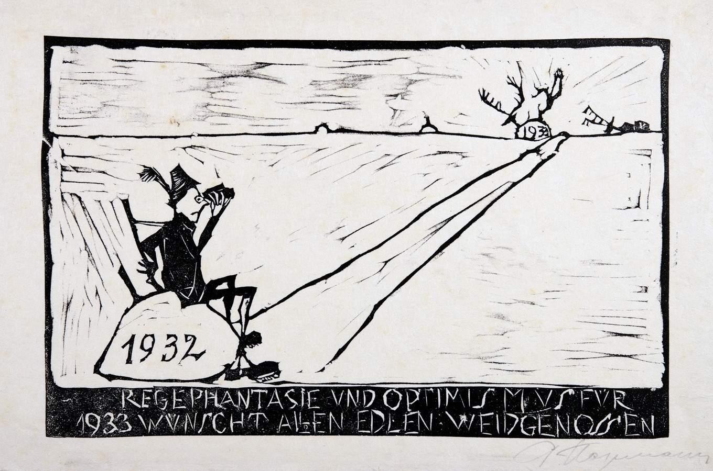 Arminius Hasemann. – Die Druckgraphik - Eine Radierung und neun Holzschnitte. 1917–1932. Alle - Image 4 of 5