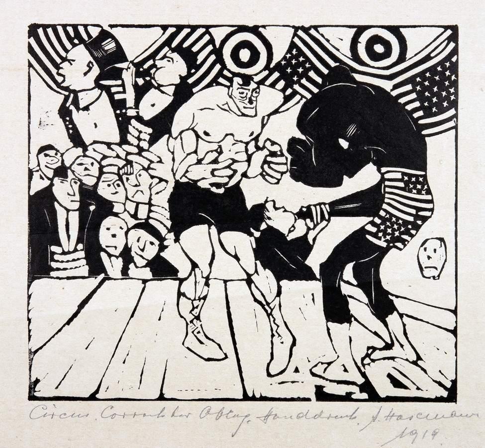 Arminius Hasemann. – Die graphischen Zyklen - Der Zirkus. 13 Holzschnitte. 1920. Elf signiert, - Image 2 of 5