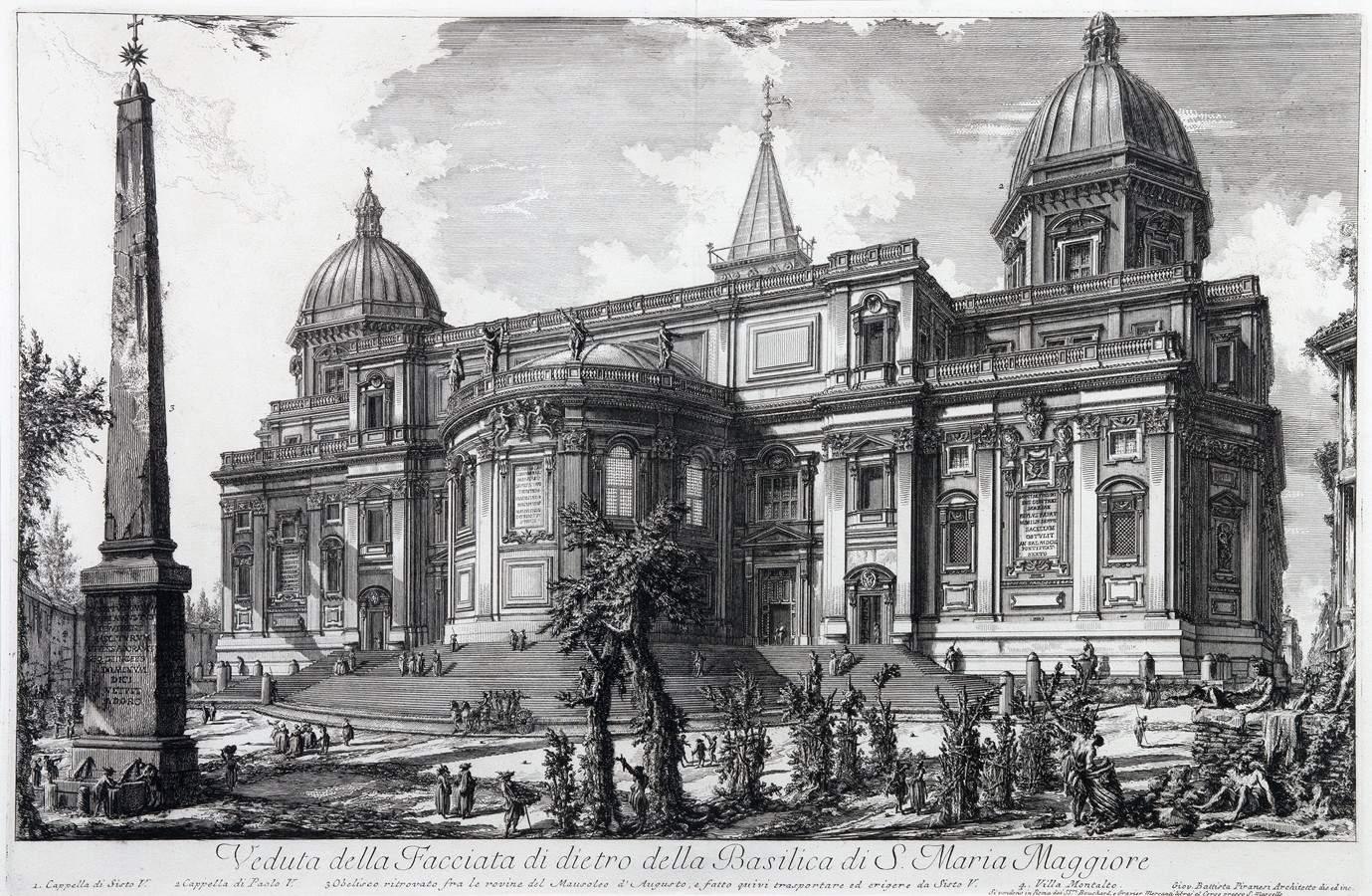 Giovanni Battista Piranesi. Veduta della Facciata di dietro della Basilica di S. Maria Maggiore.