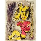 Marc Chagall. Aus: Cirque. Farblithographie. 1967. 42,2 : 32,1 cm. Aus der Auflage von 250