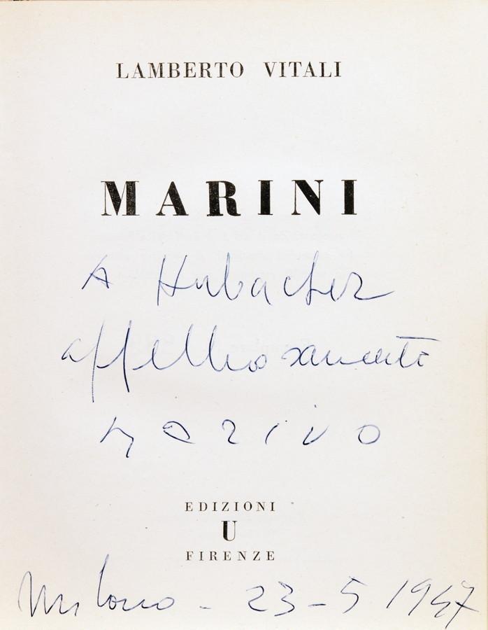 Marino Marini. Drei frühe Monographien mit eigenhändiger Widmung. 1936–1946. Alle mit Tafeln. Ein