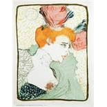 Henri Toulouse-Lautrec. Mademoiselle Marcelle Lender, en Buste. Farblithographie. 1895. 32,8 : 24,