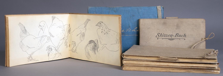 Arminius Hasemann. – Die Skizzenbücher - Sechs Skizzenbücher mit etwa 400 Skizzen, meist in