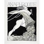 Carl Schwalbach. An'Aphrodite. Neun (von elf) Tuschfederzeichnungen, alle mit Aquarell lasiert,