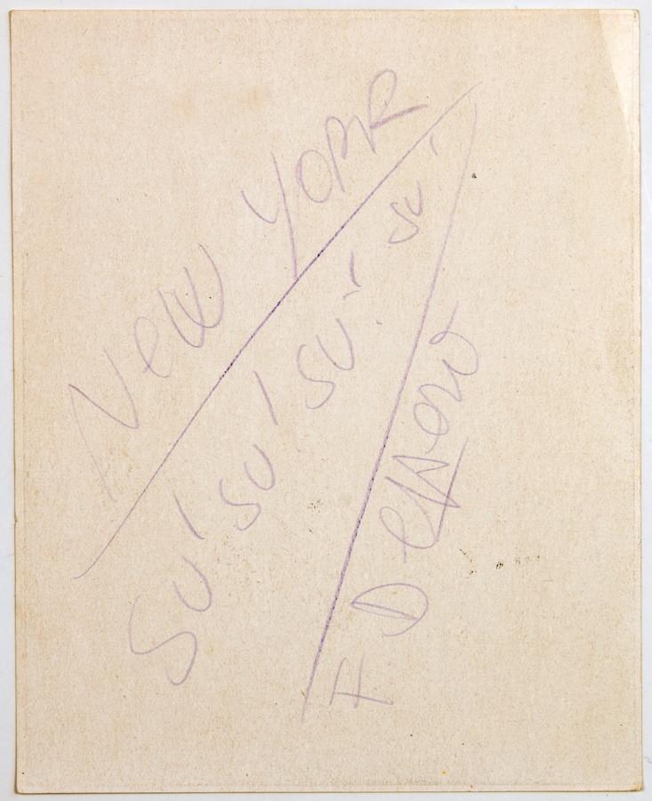 Fortunato Depero. New York – Su! Su! Su! Su! Eigenhändige Notiz mit Unterschrift. 11,8 : 14,6 - Image 2 of 2