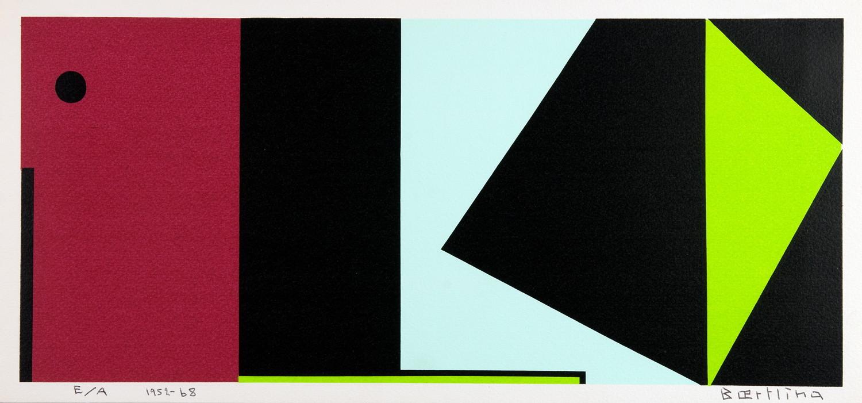 Olle Bæertling. 1952–68. Farbserigraphie. 1952. 16,5 : 37,0 cm (18,5 : 39,0 cm). Signiert,