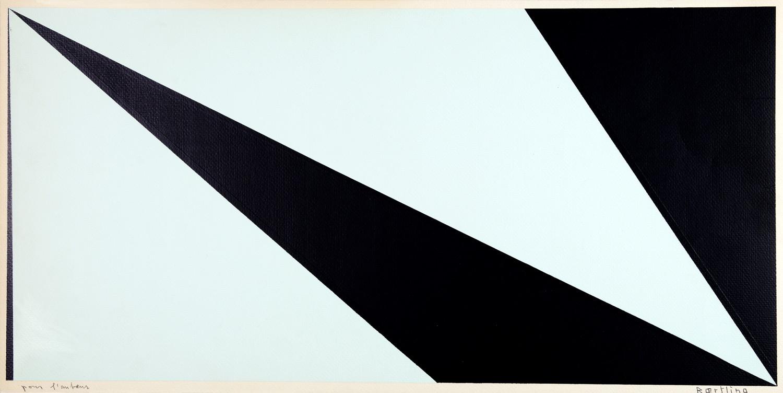 Olle Bærtling. Ohne Titel. Farbserigraphie. 28,0 : 59,6 cm (30,0 : 60,0 cm). Signiert und mit »