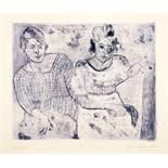 Imre Reiner. Die Blauen Bilder. Zehn Radierungen. 1922/1923. 51,5 : 35,5 cm (Blattmaße). Alle