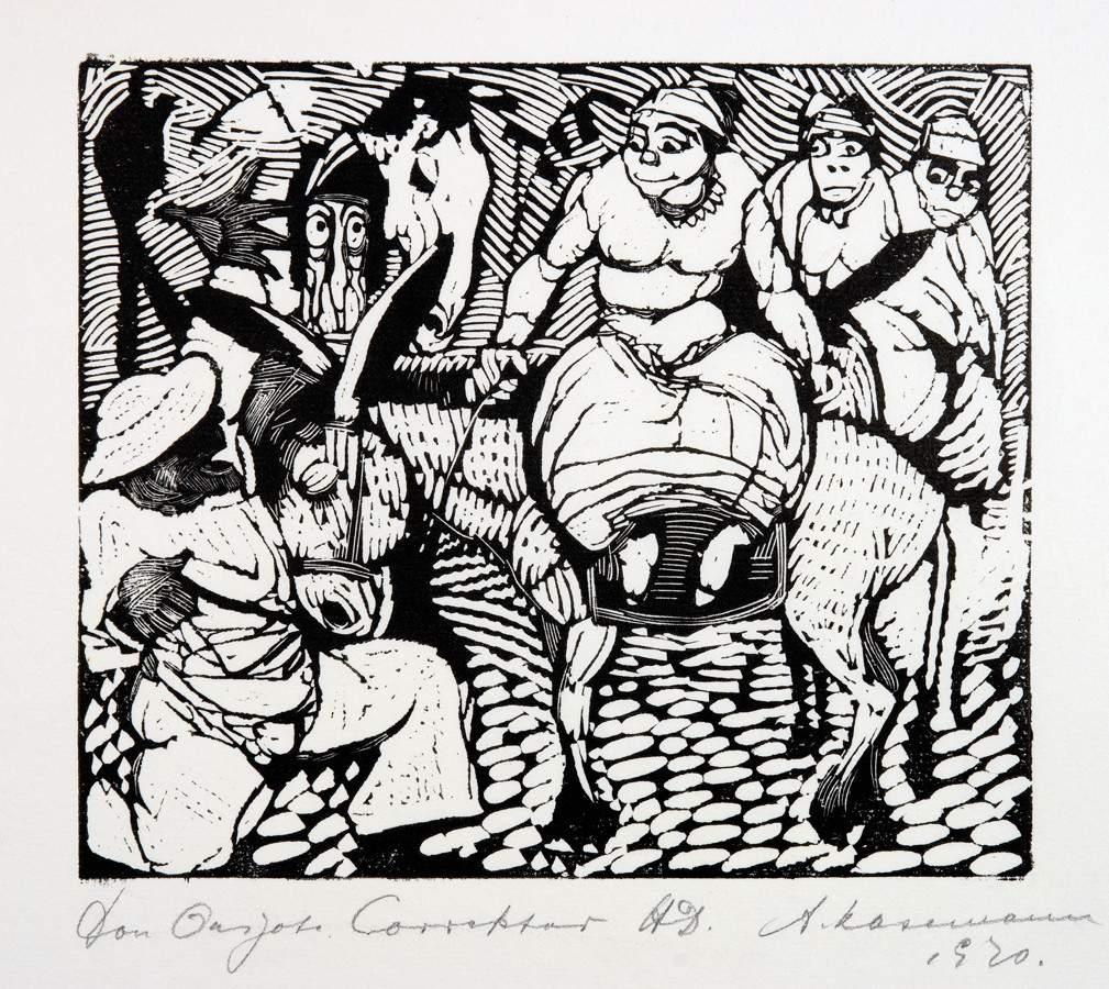 Arminius Hasemann. – Die graphischen Zyklen - Don Quijote von der Mancha, Ritter der traurigen - Image 2 of 5
