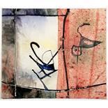 Imre Reiner. Bild 798. Aquarell und farbige Tuschen. 1964. 34,0 : 29,2 cm. Vorder- und rückseitig