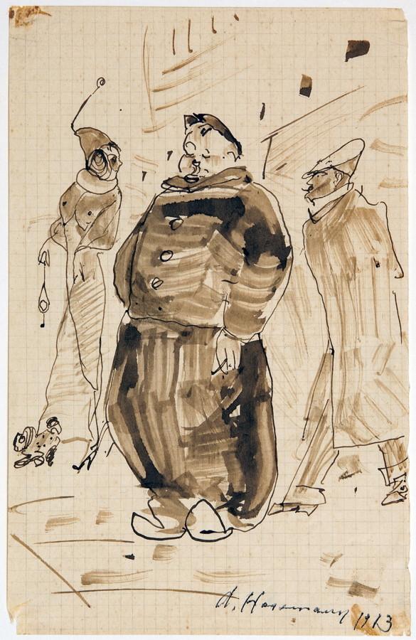 Arminius Hasemann – Die Zeichnungen - Paris. 13 Tuschfederzeichnungen, teils laviert. 1912/1913.