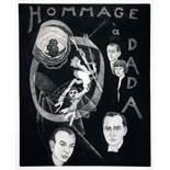 Christian Schad. Hommage à Dada. Schabkunstradierung. 1976. 40,3 : 32,5 cm (46,0 : 37,5 cm).