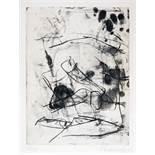 Emil Schumacher. Ohne Titel. Kaltnadel mit Vernis mou. 1961. 31,5 : 23,7 cm (50,5 : 35,3 cm).
