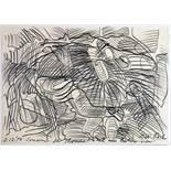 Dieter Roth. Ohne Titel. Bleistiftzeichnung. 1984. 21,0 : 29,7 cm. Signiert, datiert und mit