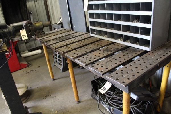 Lay-Out/Welding Bench, W/ Vise