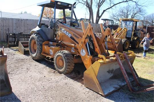 Case Tractor, W/ Front Loader Bucket, Forks & Full Power Box