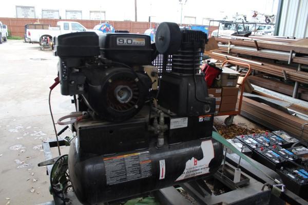 9 HP Gas Powered Air Compressor Skid, M# AS2-SR09-20M, S/N 20062867