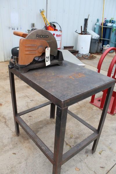 Ridgid Abrasive Cut-Off Saw, W/ Bench