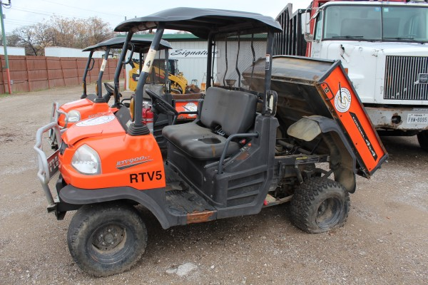 Kubota RTV, M# RTV900, S/N C0222, Product I.D# A5KB1FDALBG0C0222, 1,066 hrs (Out of service wrecked) - Image 3 of 4
