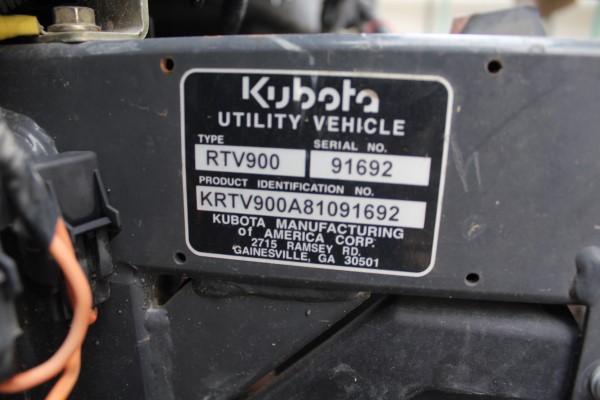 Kubota RTV, M# RTV900, S/N 91692, Product I.D# KRTV900A81091692, - Image 2 of 4