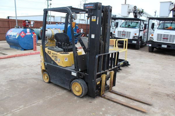 Daewoo 2,550 lb. Fork Lift, M# GC-155-2, S/N D!-00330, 1,201 hours - Image 3 of 4
