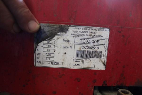 Hunter Tire Changer, M# TCX500E, S/N IDC002516 - Image 2 of 2
