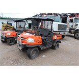 Kubota RTV, M# RTV900, S/N C0222, Product I.D# A5KB1FDALBG0C0222, 1,066 hrs (Out of service wrecked)