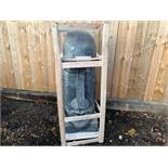 MASSIVE CRATED 5FT TALL EASTER ISLAND STATUE IN SILVER