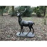 CAST IRON STAG STANDING