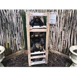 CRATED 5FT TALL CHEEKY MONKEYS STATUE