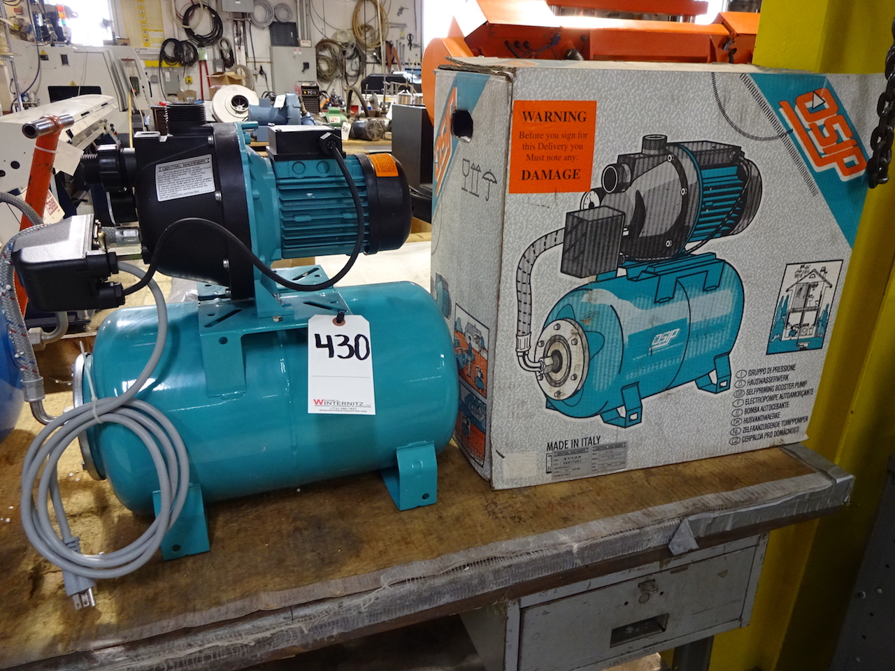 Lot 430 - Central Machinery Self-Priming Booster Pump