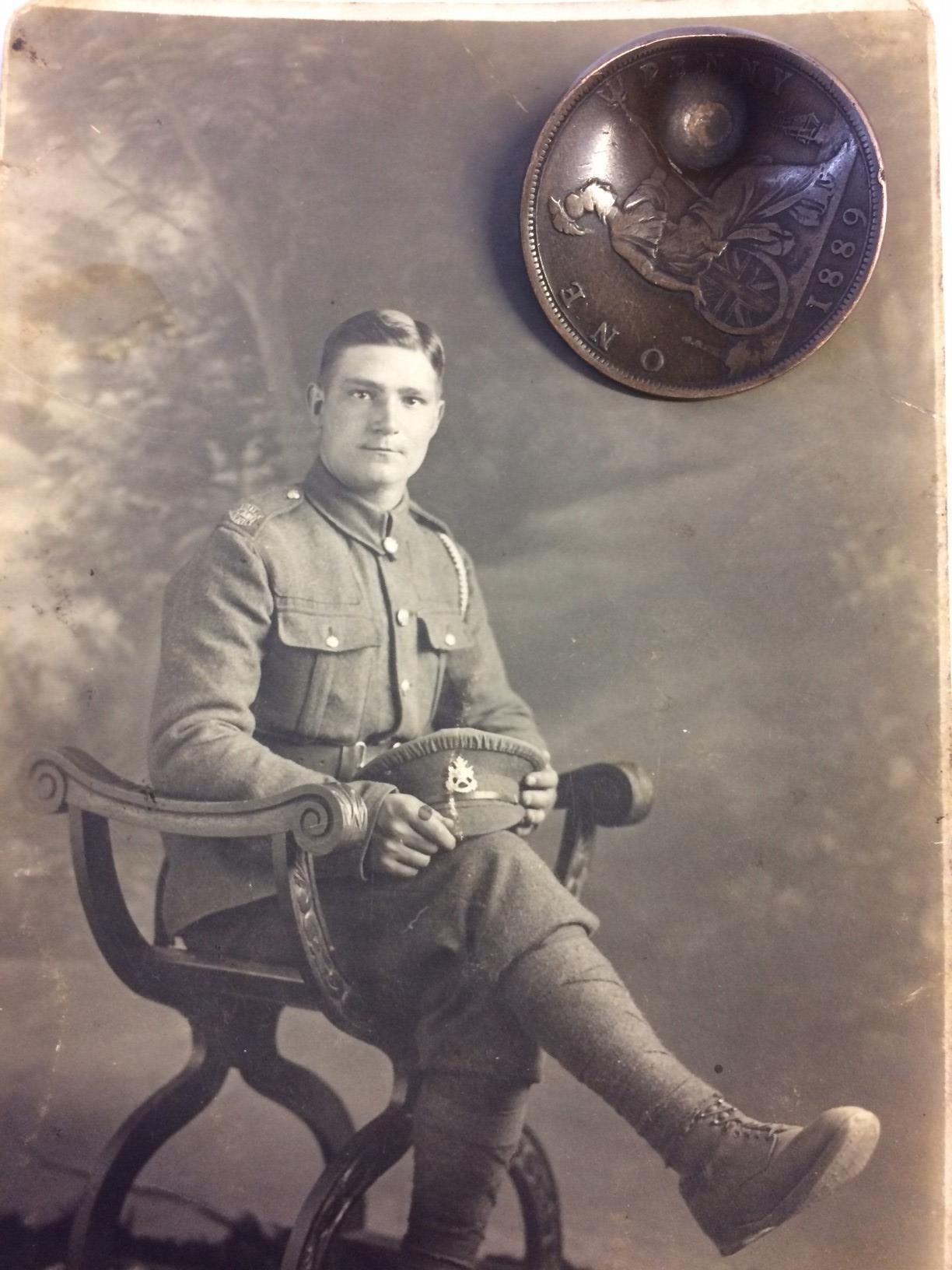 WW1 British War Medal and Victory Medal to 40475 Pte JW Trickett, Northamptonshire Regt. No ribbons. - Image 7 of 7